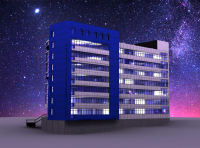 3D модель здания Лисиха 3