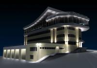 3d модель здания База 2