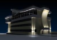 3d модель здания База 3