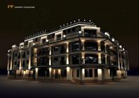 Архитектурная подсветка МФК пионерский 1