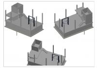 Автосервис 2 этажа с подвалом, монолитный каркас и перекрытия