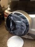 Винилография на запаску колеса автомобиля.