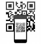 iPhone 5s c QR-кодом