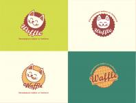 """Разработка логотипа для сети киосков стрит-фуд """"Waffle"""""""