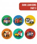Иконки разнообразных видов банковского кредитования