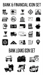Банковские ч/б иконки