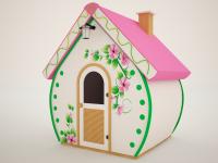 Детский деревянный домик Марципан