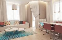 Дизайн гостиной в пастельных тонах