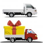 Hyundai  Porter для каталога новогодних подарков (до и после)