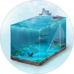 Иллюстрация-схема для сайта водолазных работ