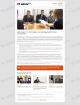 Дизайн e-mail письма Marketing Service