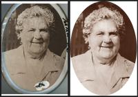 Восстановление изображения со старой эмали.