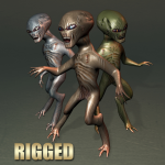 evil grey alien
