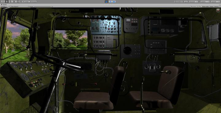 Unity Симулятор ПУ Пусковой установки Ракетного дивизиона ПВО