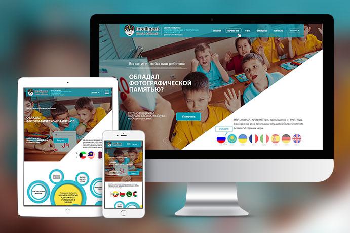"""Разработка сайта компании """"Imaedu"""". Центр развития детей."""