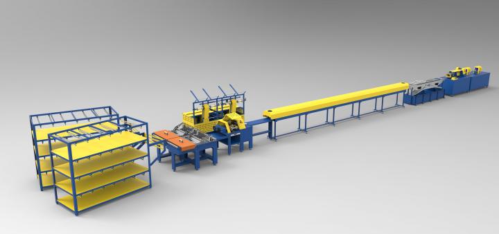 Поточная линия для производства стекловолоконной арматуры