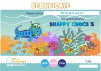Сертификат для школы по плаванью для детей