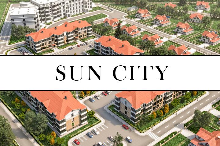 Визуализация коттеджного посёлка для сайта застройщика