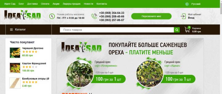 SEO-продвижение интернет-магазина саженцев «под ключ»