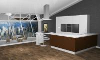 Визуализация. Кухня. 3d max, V-ray.