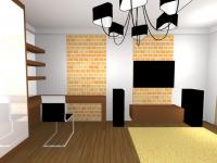Гостиная+рабочий кабинет