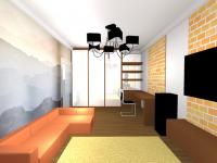 Гостиная+рабочий кабинет вид2