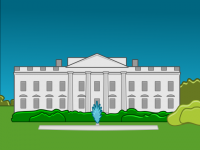 Белый дом. Вектор