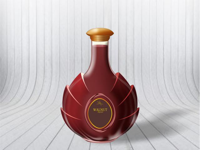 Дизайн бутылки для коньяка