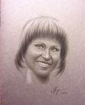 Портрет на обложке блокнота, ретушь
