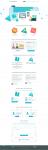Дизайн-концепция лендинга конструктора сайтов