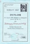 Диплом Конкурса чтецов им. Адама Мицкевича (3-е место, 2005г.)