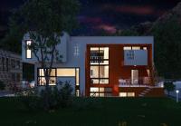 Моделирование загородного дома, экстерьер
