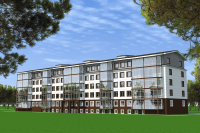 Проект многоквартирного жилого дома со встроенными помещениями