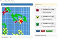 Многопоточное приложение для моделирования движения кораблей.