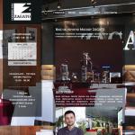 Сайт ресторана Zagato (Москва)