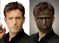 имитация рисования на лице