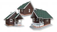 Моделирование домов из бруса