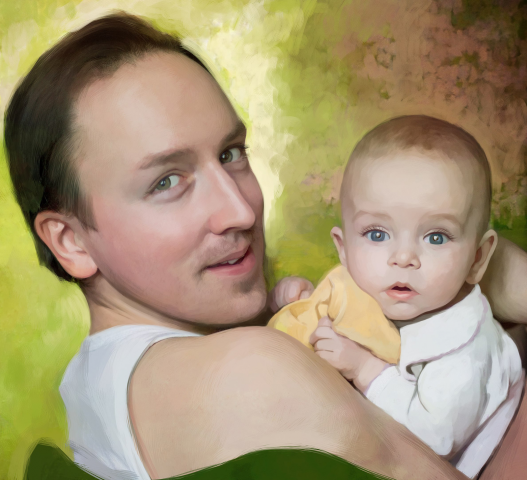 Михаил с сыном