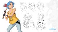Модельный лист персонажа - Софи