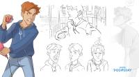 Модельный лист персонажа - Оливер