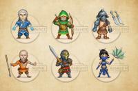 6 концептов персонажей для одной из игр