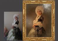 Превращение фото в старинную картину