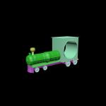 Часы в виде локомотива(отверстие для часов диаметром 60 мм)