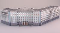 """3D модель здания Управления ЗФ """"Норильский никель"""""""