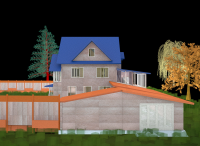 Пристройка к деревянному дому - гараж, веранда, подсобки