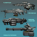 sci-fi weapons
