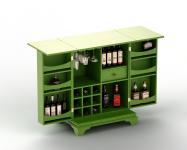 Визуализация бара для спиртных напитков
