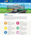 Сайт визитка международной транспортной компании