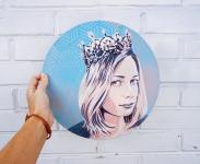 Портрет на заказ на виниловой пластинке