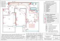 План розеточной сети и силового оборудования